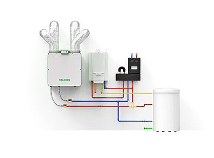 ventilatie - warmtepomp - verwarming en ventilatie van de woning - Duco - ik ga bouwen